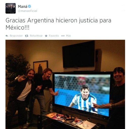 Ellos tambi n festejaron el triunfo de argentina Noticias de espectaculos argentina