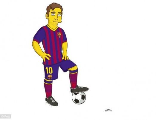 Messi se une a la familia Simpson  Noticias Deportivas  TandilDiario